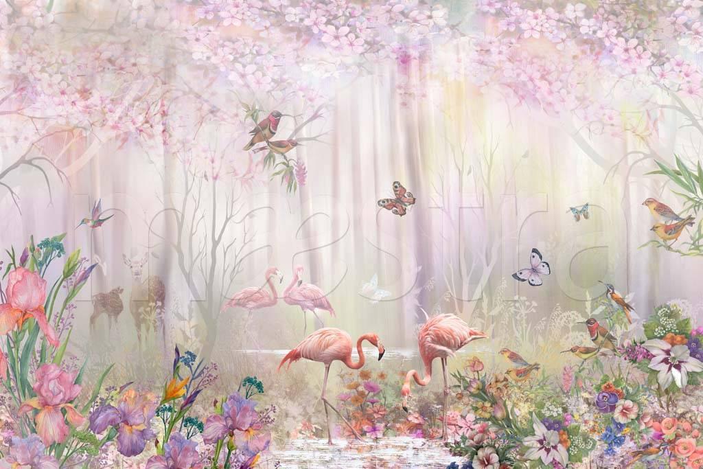 Картинки с нежными цветами и птицами