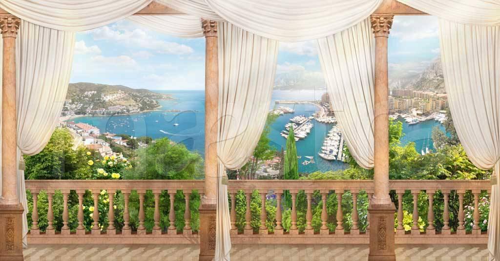 фотообои балконы террасы окна курорт полон